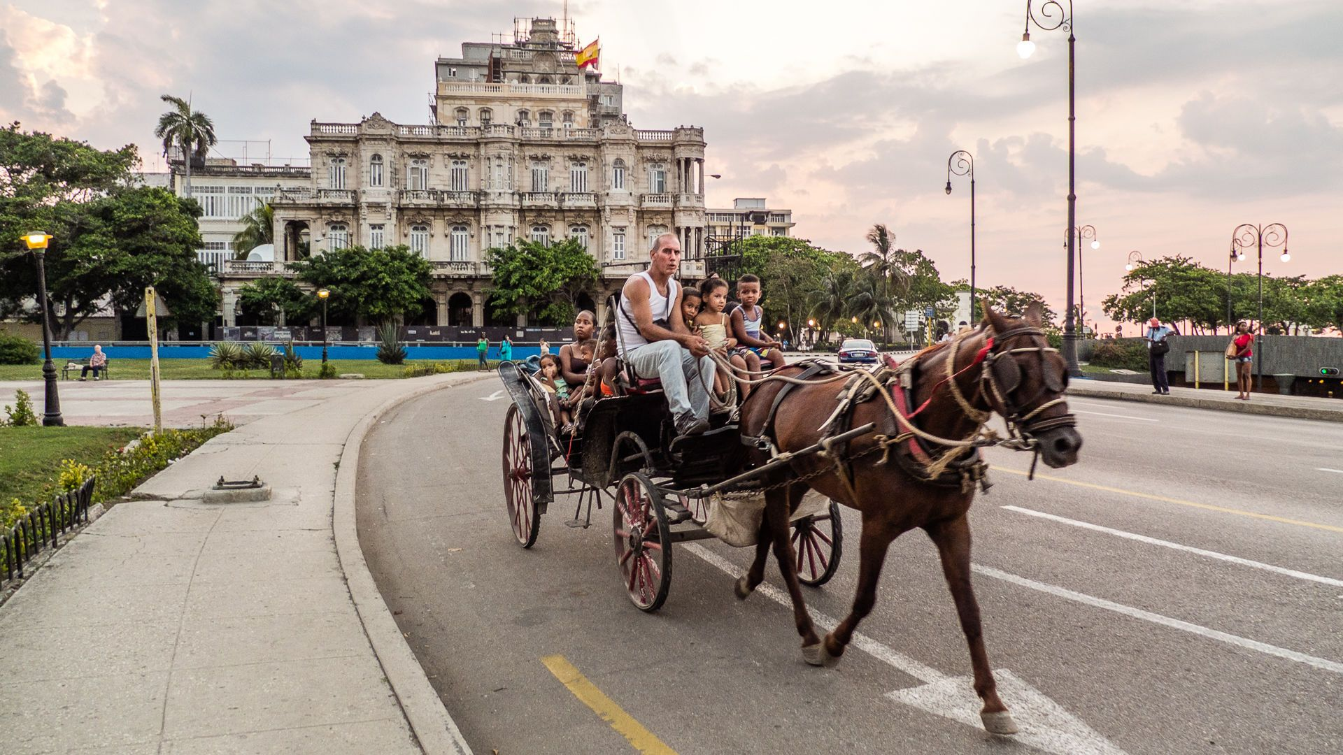 Horse Carriage in the Street of Old Havana, Cuba