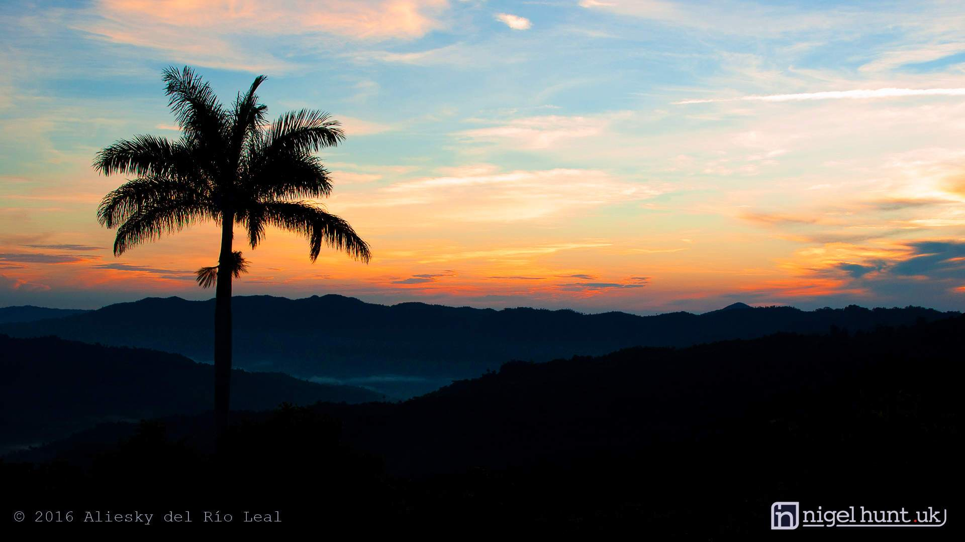 Sunrise in the Escambray mountains