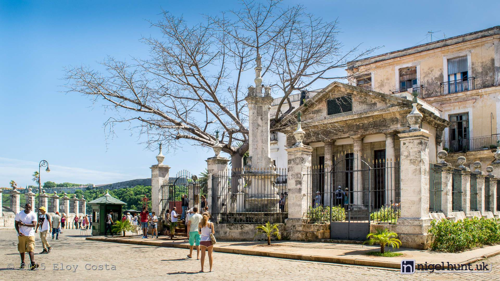 Small Greco-Roman temple -El Templete- at Old Havana